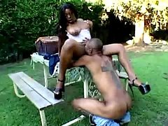 Ebony senior bitch fucking hard