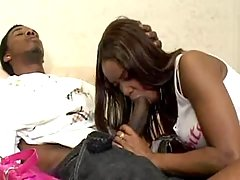 Blazing black cutie gets penetrated