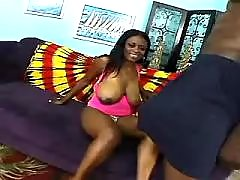 Porn adventure with appetizing ebony fat woman